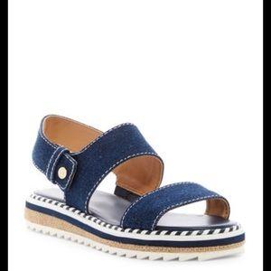 Tommy Hilfiger women's twMadie Sandal blue sz 10